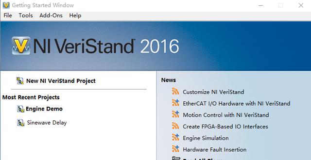 Ni VeriStand是一种配置实时测试应用程序的软件环境。